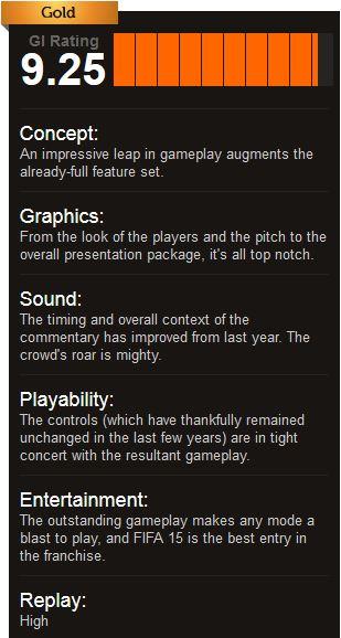 FIFA 15 ביקורות למשחק