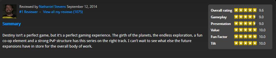 destiny video game review