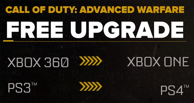 COD Advanced Warfare to current-gen digital for FREE within same console family