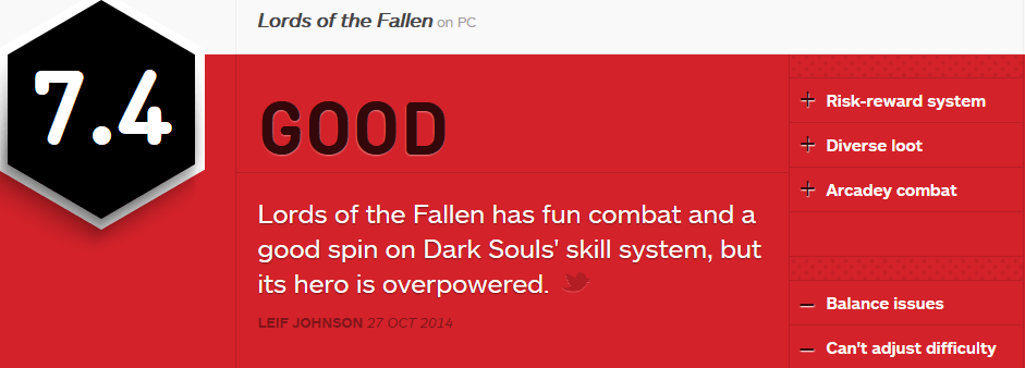 Lords of the Fallen review IGN