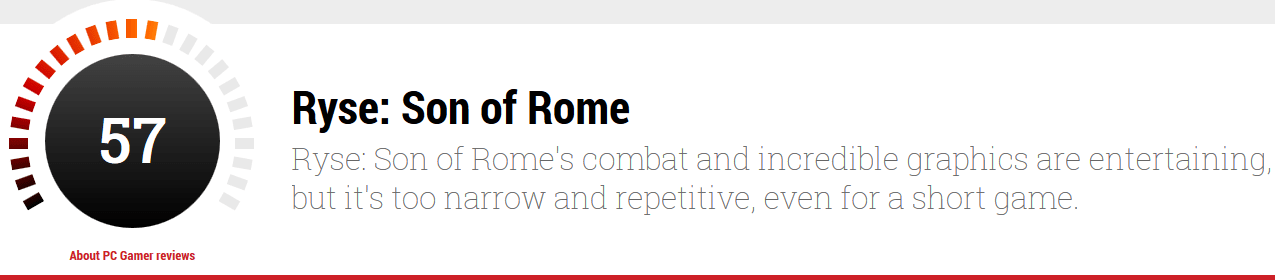 RYSE SON OF ROME PC REVIEWS