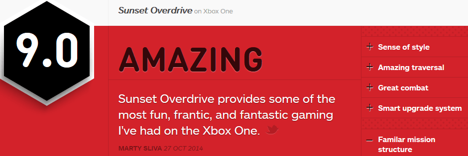 sunset overdrive IGN review