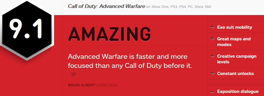 Advanced Warfare REVIEWS