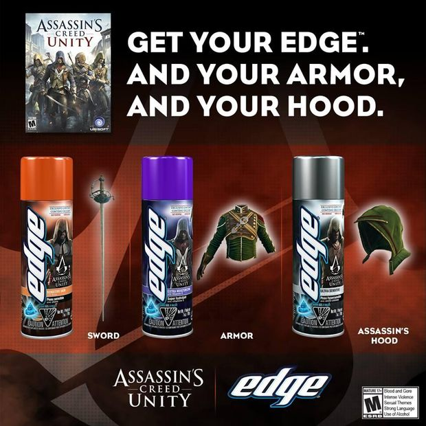 Buy Shaving Cream, Get Assassin's Creed Unity DLC