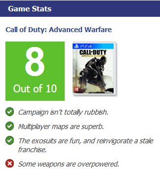 Call of Duty Advanced Warfare VG Review