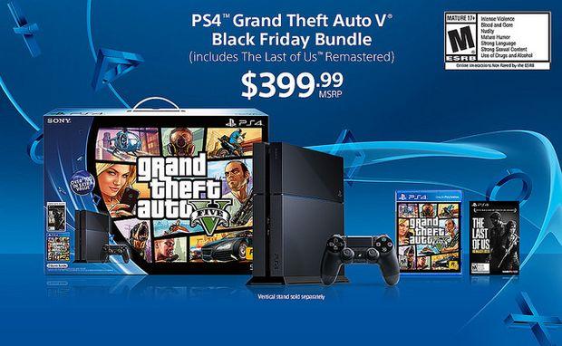 PS4 on Black Friday GTA V Bundle