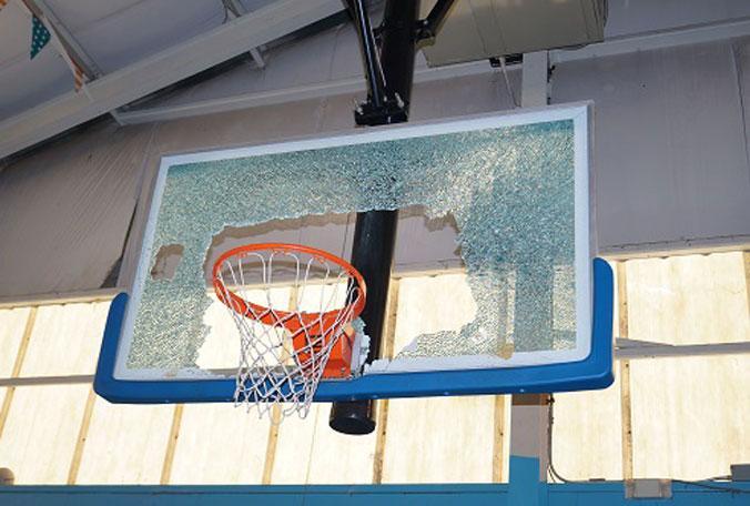 broken basketball