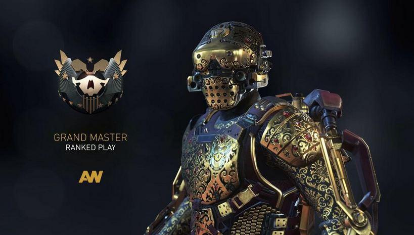 Best Advanced Warfare Players gold Armor