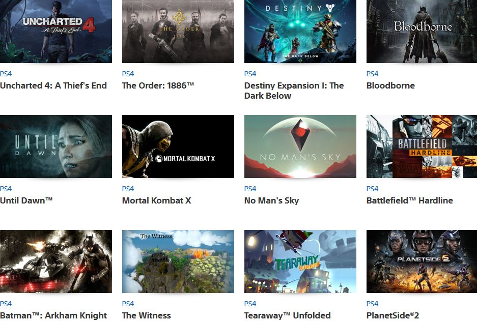 PlayStation Experience games