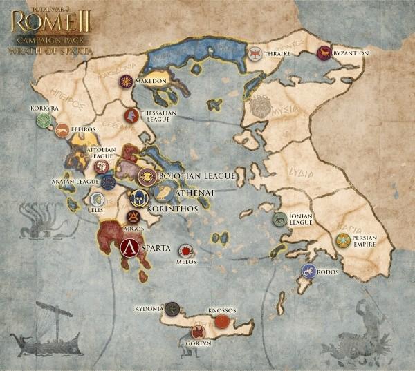 """מפת הקמפיין """"זעמה של ספרטה"""""""