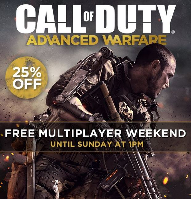 advanced warfare free multplayer weekend
