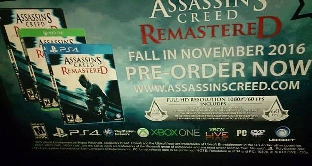 Assassins creed Remastered