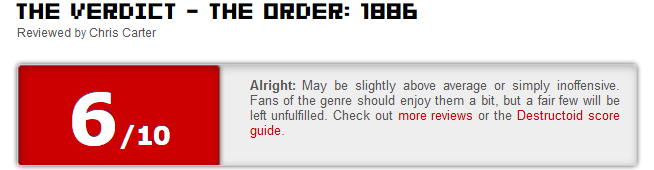 The Order 1886 reviews