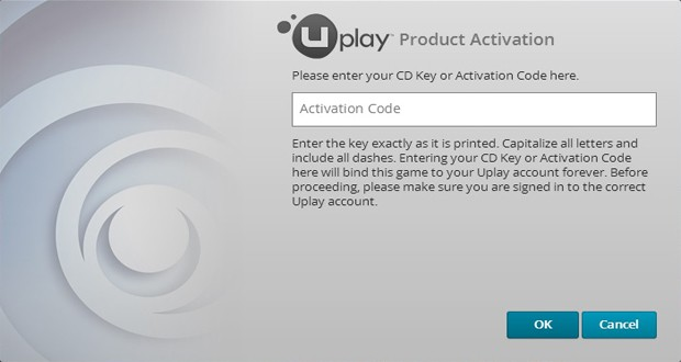 UPLAY ACTIVATION CODE