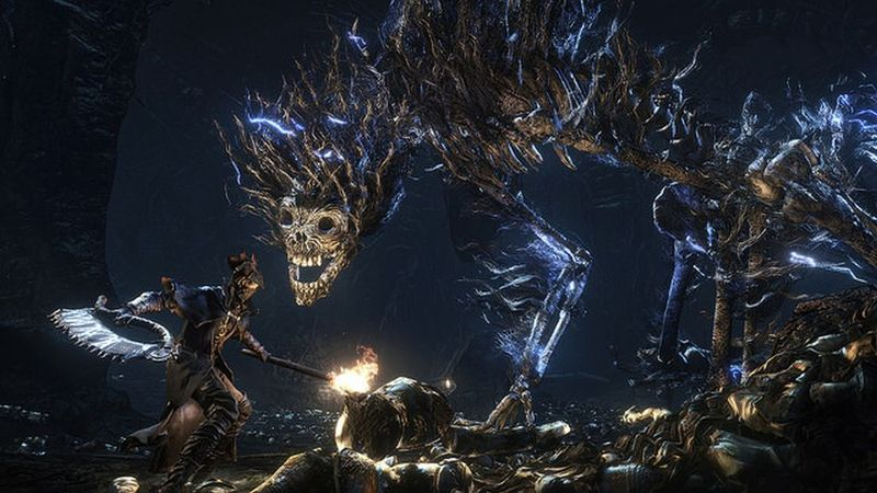 Bloodborne-Introduces-Darkbeast-Boss-All-Electricity-and-Bones