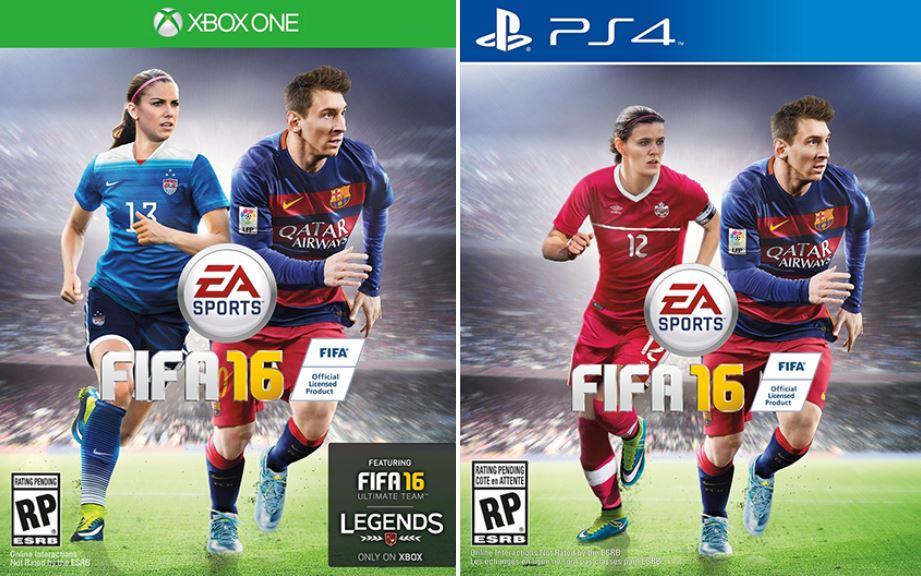 Alex Morgan and Christine Sinclair as first ever female cover athletes for FIFA 16