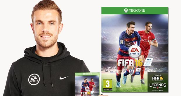 Jordan Henderson to feature alongside Messi on FIFA 16
