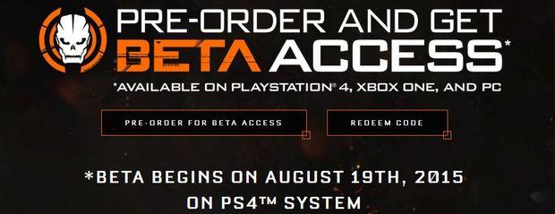 black ops 3 beta code