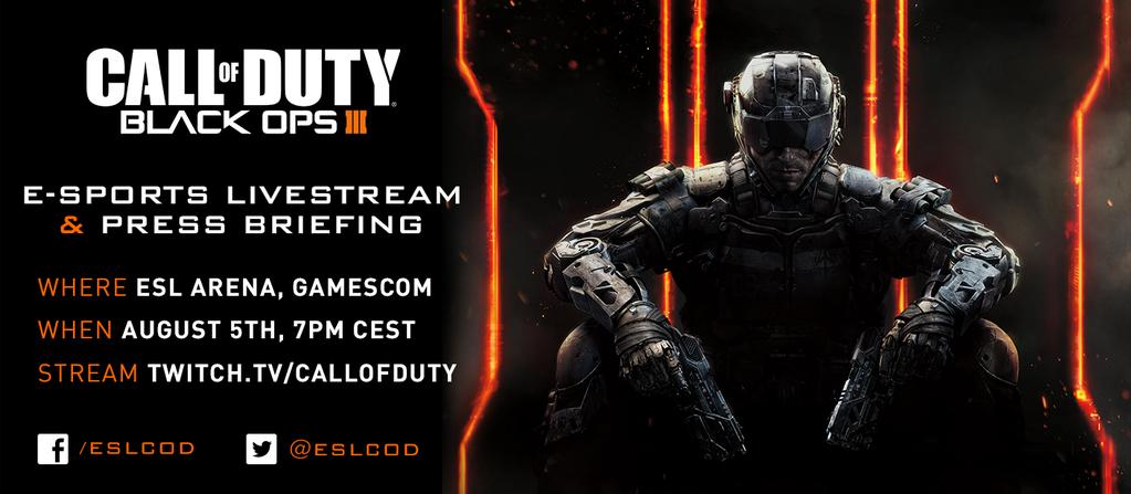 Black Ops 3 eSports At Gamescom 2015