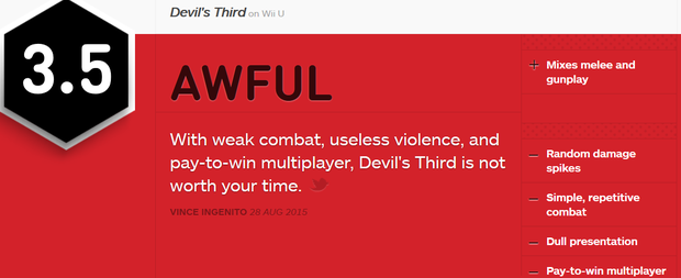 Devils Third reviews roundup