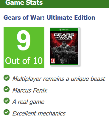 Gears of War Ultimate Edition review round up