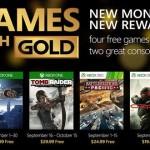Games with Gold: המשחקים החינמיים לחודש ספטמבר נחשפו