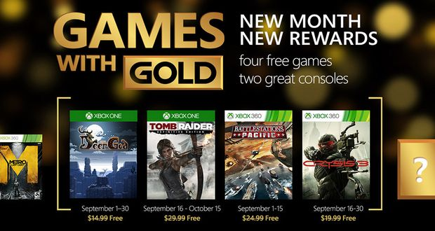 Xbox One Thanks to September free Games with Gold