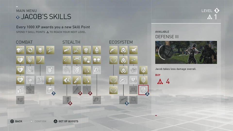jacob skill tree
