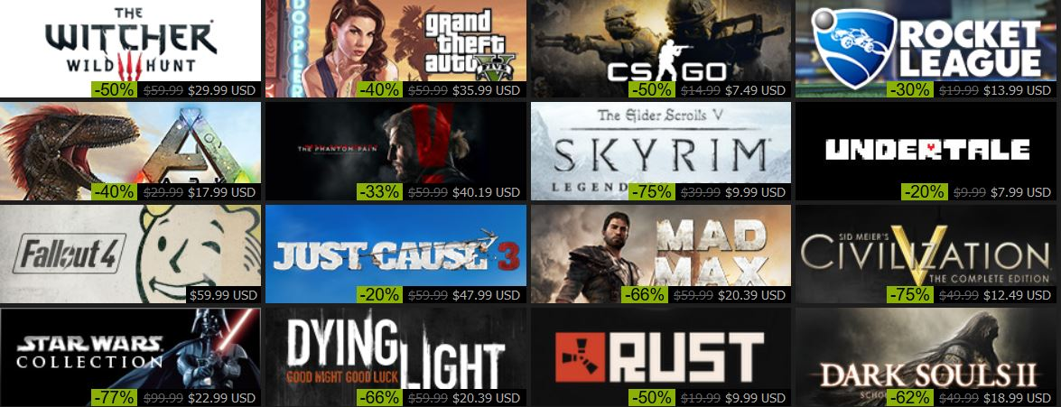 STEAM HOLIDAY SALE 2015