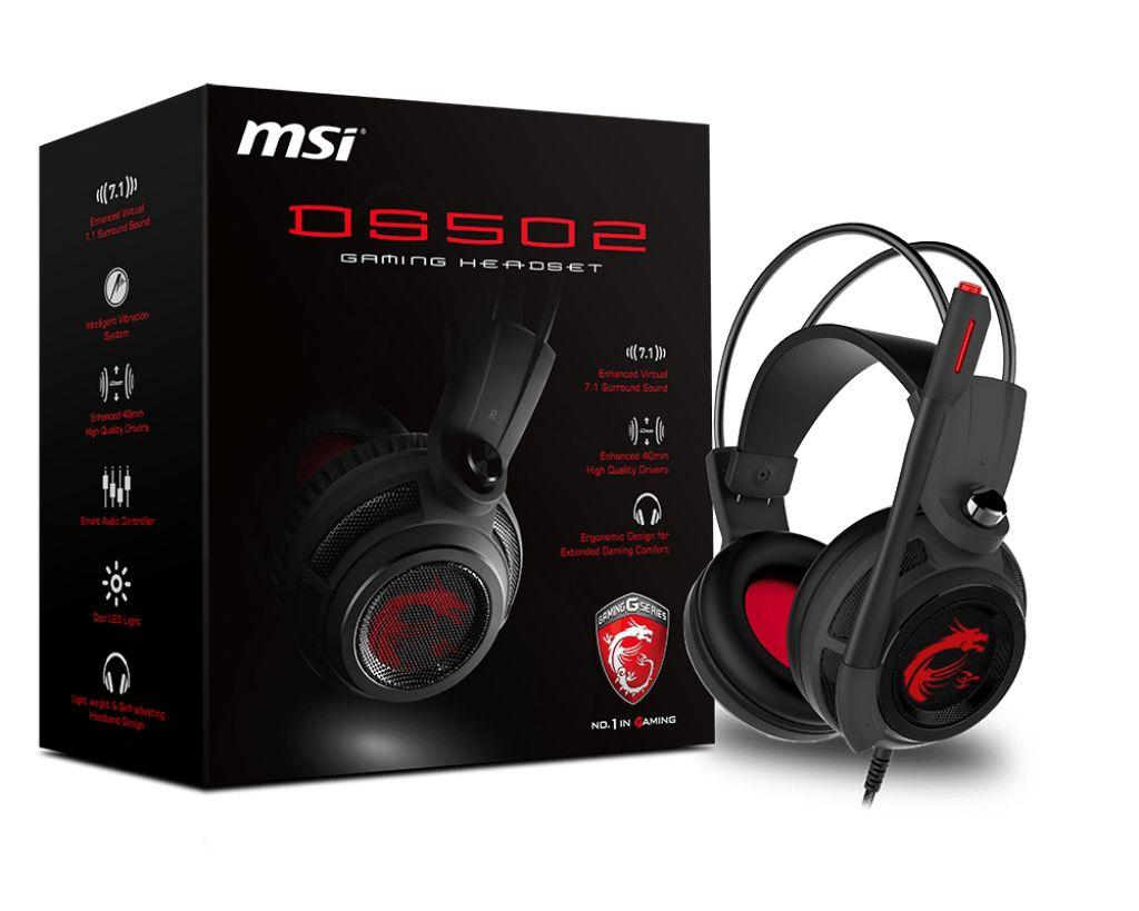 MSI DS502 אוזניות גיימינג